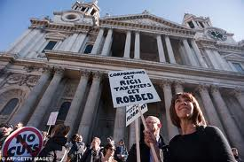 Anti-Capitalism protest outside St Paul's