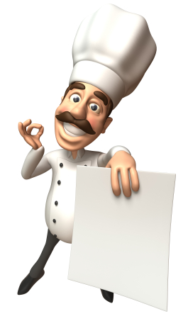 Chef with a blank sign 000007508732XSmall