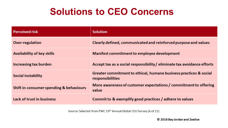 PWC CEO concerns and solutions